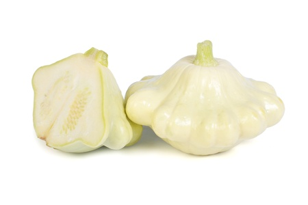 cymbling: patty pan squash isolated on white background