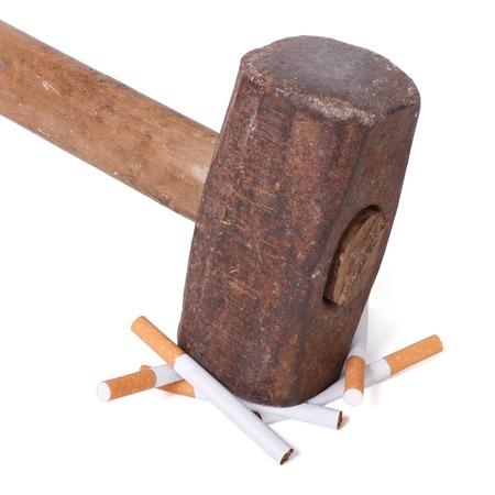 willpower: Concetto di forza di volont� e uno stile di vita sano No Smoking Archivio Fotografico
