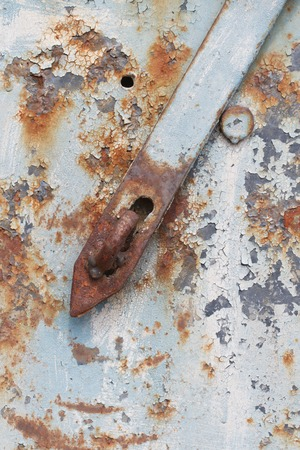 texture of old rusty door without a lock closeup vertical Stock Photo - 27737919