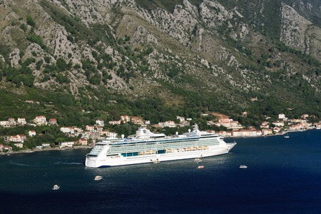 Cruise ship \Serenade of the Seas\ in the Bay of Kotor in Montenegro. September 23, 2014
