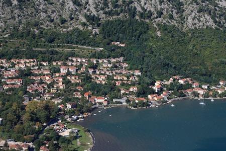Adriatic coast of Montenegro. Bay of Kotor. Panoramma city photo
