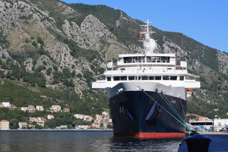 Cruise ship \Minerva\ in the port of Kotor, Montenegro, September 27, 2014