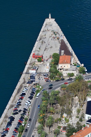 Top view of the seaport town of Kotor, Montenegro photo