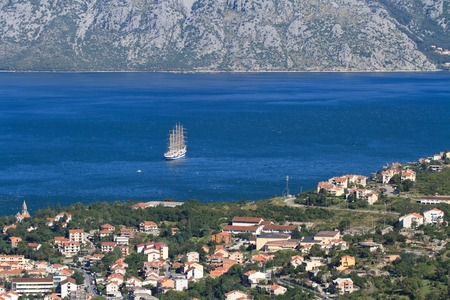 Beautiful landscape in Montenegro. Bay of Kotor photo