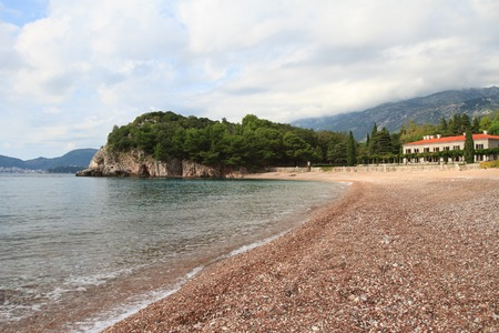 Beautiful pebble beach on the Budva Riviera, Montenegro photo