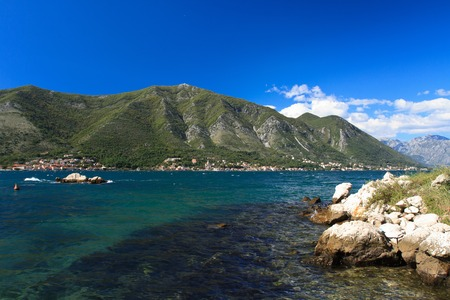 Beautiful Adriatic coast. Clear water and high mountains. Montenegro photo