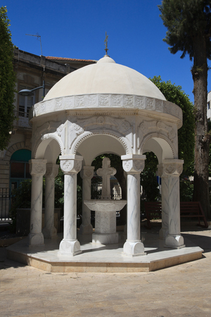 dome building: Gazebo Dome building in Agia Napa Greek Orthodox Cathedral in Limassol Cyprus