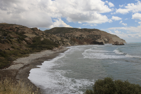 aphrodite: Wildlife Cyprus. View on the rock of Aphrodite