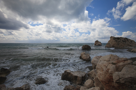 birthplace: View Cyprus the birthplace of Aphrodite. Seaview