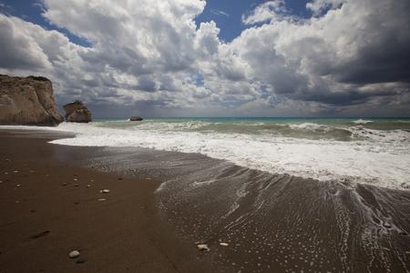 aphrodite: The coast of Cyprus in the area of rock Aphrodite. seascape