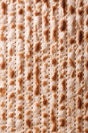 matzah: Traditional Jewish matzah kosher macro vertical background Stock Photo