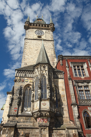 The Old Town Hall in Prague, the capital of the Czech Republic