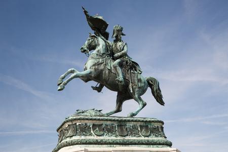 Statue of the Archduke Charles of Austria, Duke of Teschen on the Heldenplatz, Vienna, Austria Stock Photo