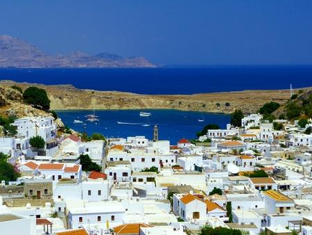 mediterraneo: baia di lindos - isola di rodi Editorial