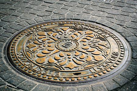 Manhole vintage Budapest