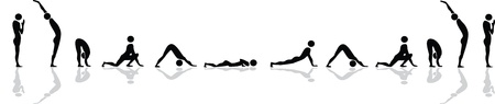 Yoga position for sun salutation