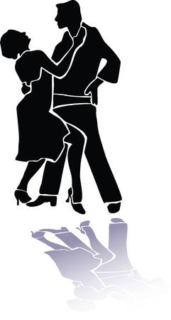 Couple dance tango eps Stock Vector - 10377340