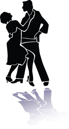 Couple dance tango eps Illustration