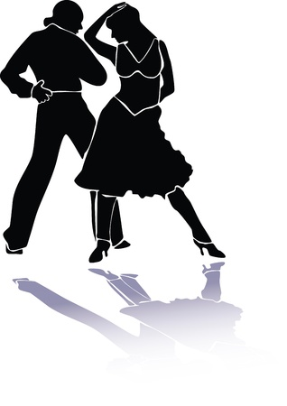 Latino dance couple eps Vector