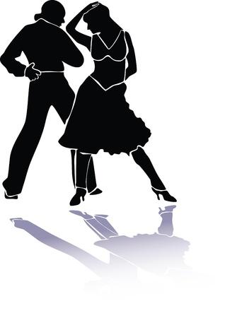 Latino dance couple eps Vector