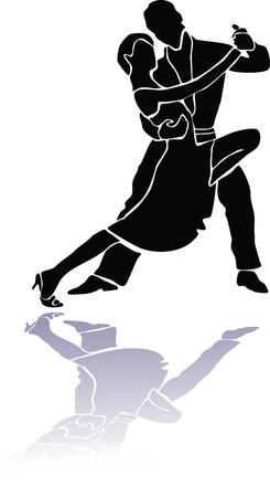 tango couple dance eps Vector