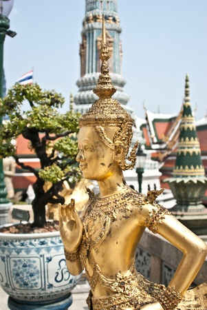 Gold Statues, Thailand Stock Photo