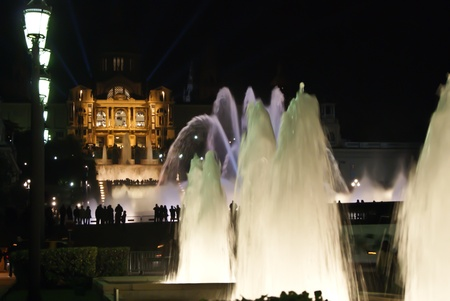 Barcelona, Spain: Spain Plaza by night