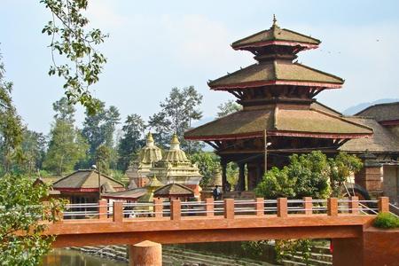 multiples: temples view in Kathmandu, Nepal