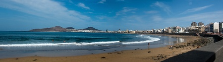 Las Palmas, Gran Canaria - September 28, 2011: view Playa de las canteras Stock Photo