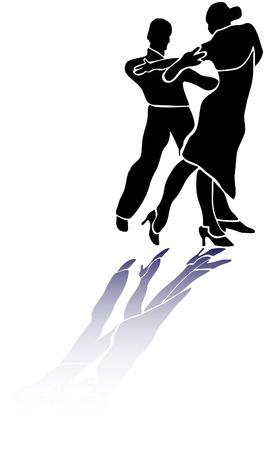Couple dance tango latino eps Stock Vector - 10960415