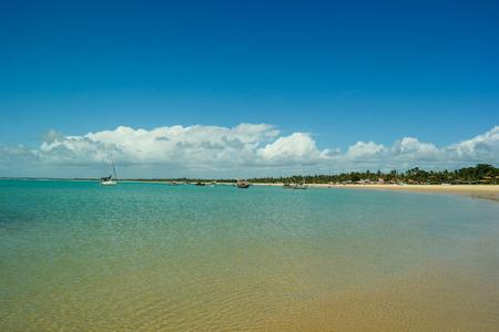 Corumbau beach tip - One of the most beautiful beaches in Brazil Stock Photo