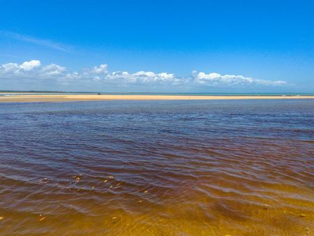 Corumbau river in Prado (Bahia - Brazil) and his beautiful line Stock Photo