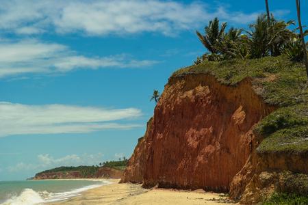 Cliffs in Prado (Bahia - Brazil) Stock Photo