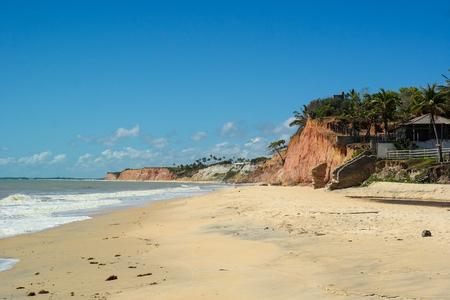 Cliffs in Passion beach - Prado - Bahia - Brazil (Passion Beach Falesias)