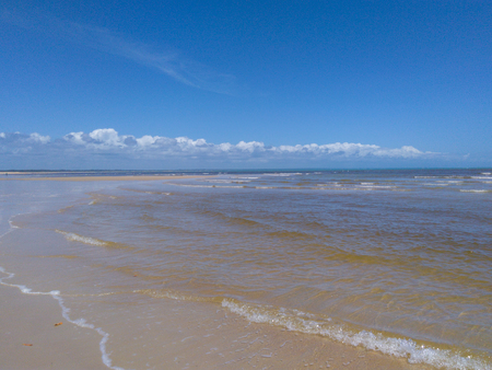 Guaratiba Beach horizon (Horizonte in Playa de Guaratiba) Banco de Imagens - 104287428