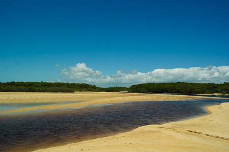 Water and sand in Corumbaus river (Corumbau River Details)