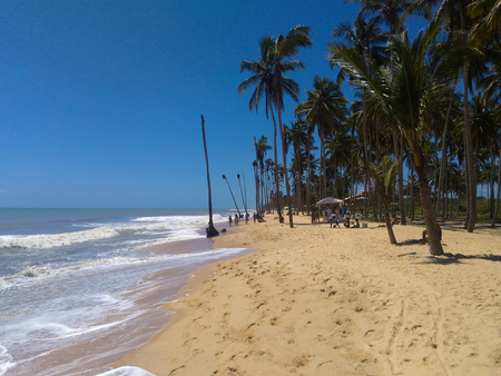 Coqueiral Beach (Coconut Groves beach) in Prado - Bahia - Brazil