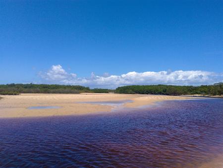 Corumbaus river and its sinuosity Stock Photo