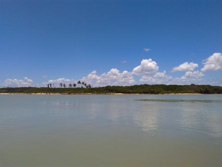 Itanh?ms river in Alcoba?a - Bahia Stock Photo