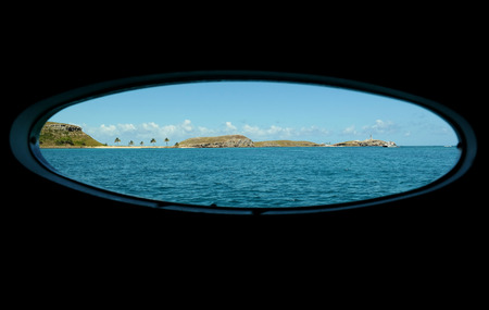 Abrolhos Archipelago seen from the boat hatch