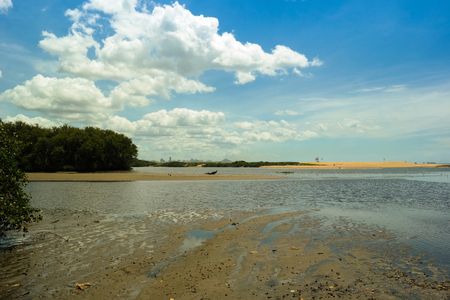 Brazilian countryside river and beach (Jucus beach) - Barra do Juc? in Vila Velha
