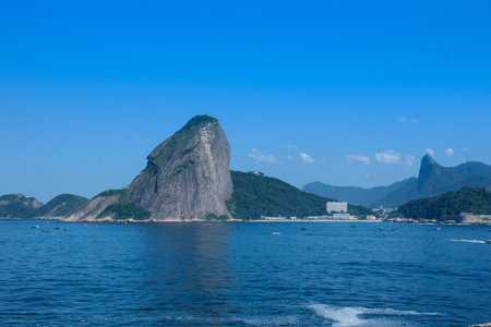 Sugar loaf traditional tourist attraction of Rio de Janeiro (mountain and sea)