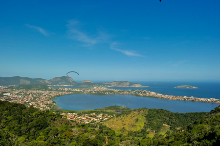 Niteroi and its lakes from above