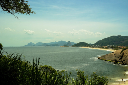 A secret beach in Niteroi Stock Photo