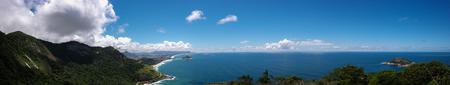 Panoramic of Rio de Janeiro beaches (Beaches of the West Zone of Rio) Stock Photo