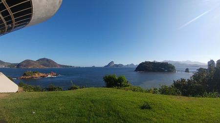 Beautiful tourist landscape in Rio de Janeiro