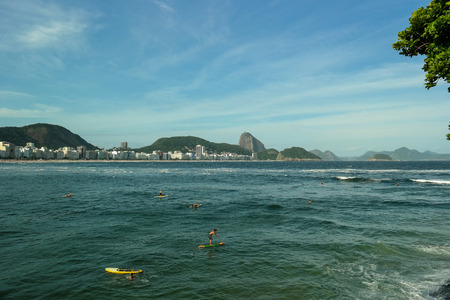 Sports in Copacabana beach