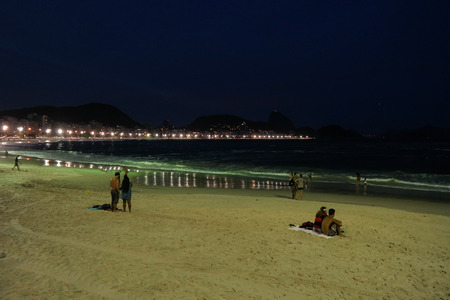 Beach at night - Copacabana