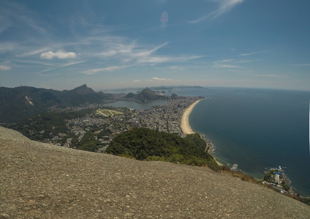 Panoramic view of the Rio de Janaeiro coast