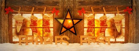 Decorated for Christmas windows, mood lighting Zdjęcie Seryjne